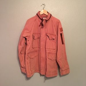 Urban outfitters pink army jacket